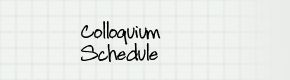 colloqium-schedule